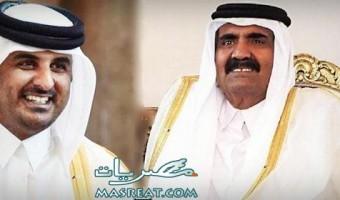 اخبار امير قطر السابق حمد بن خليفة وابنه تميم