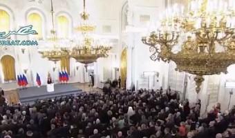 الرئيس فلاديمير بوتين يعلن انضمام القرم الى روسيا